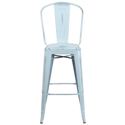 Cercis 30 Bar Stool Finish: Distressed Dream Blue
