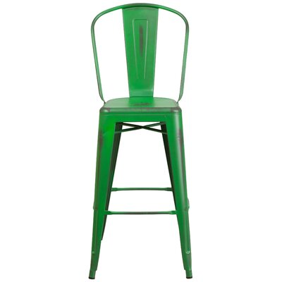 Cercis 30 Bar Stool Finish: Distressed Green
