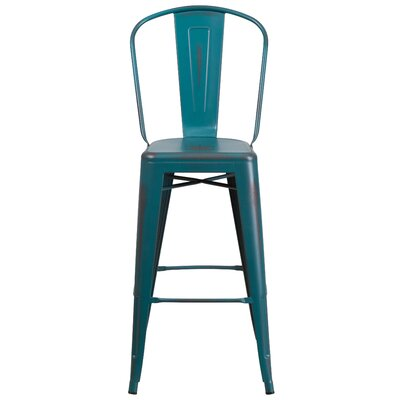 Cercis 30 Bar Stool Finish: Distressed Kelly Blue
