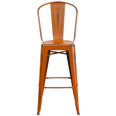 Cercis 30 Bar Stool Finish: Distressed Orange