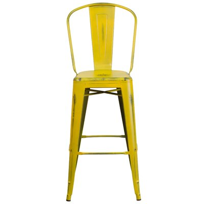 Cercis 30 Bar Stool Finish: Distressed Yellow
