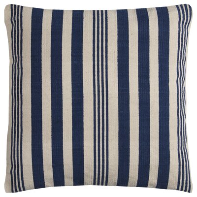 Greeves Cotton Throw Pillow Color: Blue