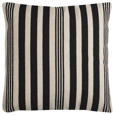 Gladiola Cotton Throw Pillow Color: Black
