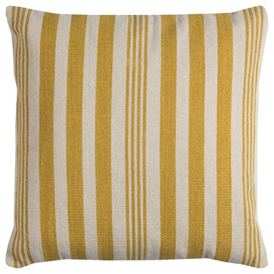 Gladiola Cotton Throw Pillow Color: Yellow