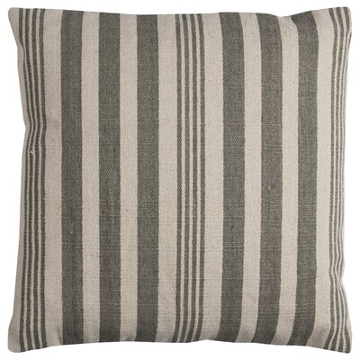 Gladiola Cotton Throw Pillow Color: Gray