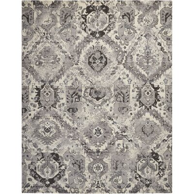Arabelle Ivory/Gray Area Rug Rug Size: 99 x 139