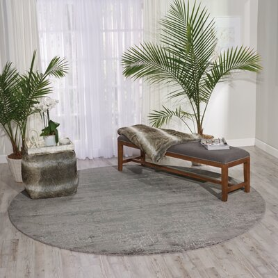 South Aurora Gray Area Rug Rug Size: Round 8 x 8