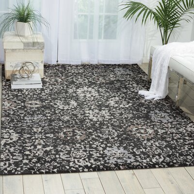 Arabelle Onyx Area Rug Rug Size: Rectangle 86 x 116