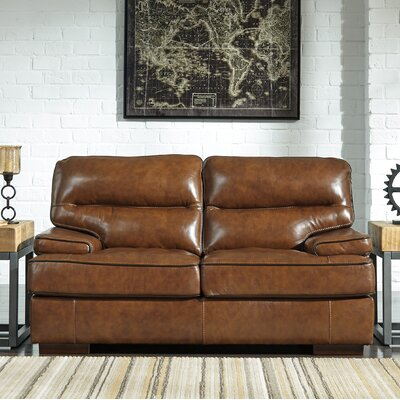 Haines Leather Loveseat