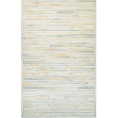 Covina Hand-Woven Ivory Area Rug Rug Size: Rectangle 36 x 56