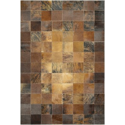 Easthampton Hand-Woven Brown Area Rug Rug Size: Rectangle 5'6