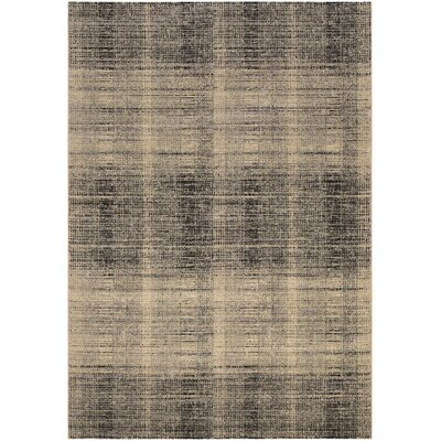 Covina Black/Gray Area Rug Rug Size: Rectangle 37 x 53