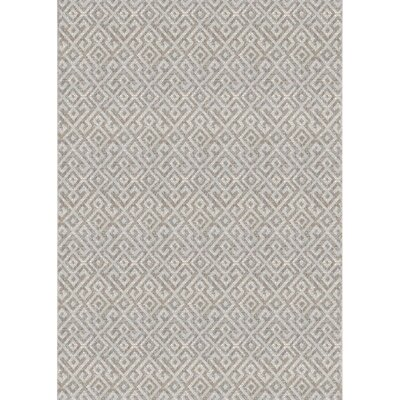 Waller Light Brown Indoor/Outdoor Area Rug Rug Size: Rectangle 510 x 92