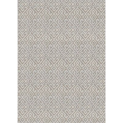 Waller Light Brown Indoor/Outdoor Area Rug Rug Size: Rectangle 76 x 109