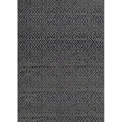 Wellington Pavers Black/Gray Indoor/Outdoor Area Rug Rug Size: 2 x 37