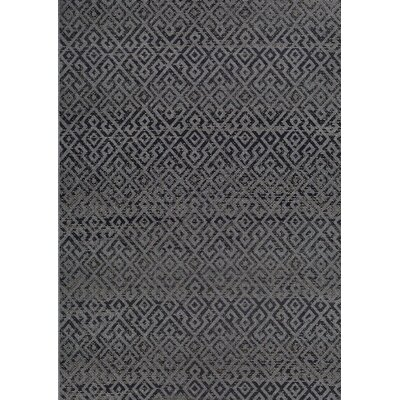 Waller Pavers Black/Gray Indoor/Outdoor Area Rug Rug Size: Rectangle 86 x 13