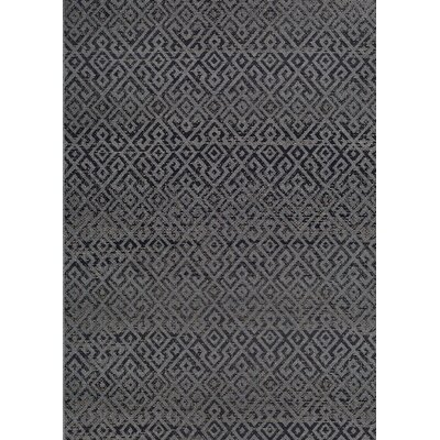 Waller Pavers Black/Gray Indoor/Outdoor Area Rug Rug Size: Rectangle 510 x 92