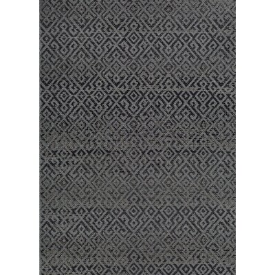 Waller Pavers Black/Gray Indoor/Outdoor Area Rug Rug Size: Runner 23 x 119