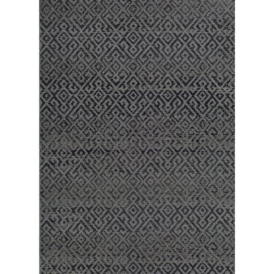 Waller Pavers Black/Gray Indoor/Outdoor Area Rug Rug Size: Runner 23 x 119