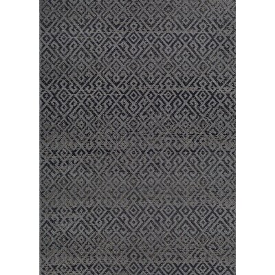 Waller Pavers Black/Gray Indoor/Outdoor Area Rug Rug Size: 76 x 109