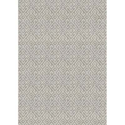 Waller Light Brown Indoor/Outdoor Area Rug Rug Size: Rectangle 39 x 55