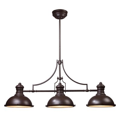 Westlake Village 3-Light LED Kitchen Island Pendant Finish: Oiled Bronze