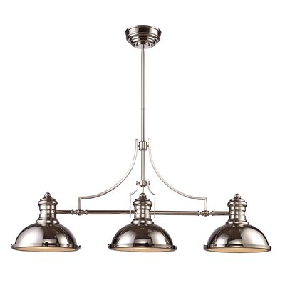 Westlake Village 3-Light LED Kitchen Island Pendant Finish: Polished Nickel