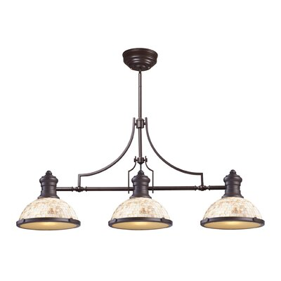 Westlake Village 3-Light Billiard/Kitchen Island Pendant Finish: Oiled Bronze