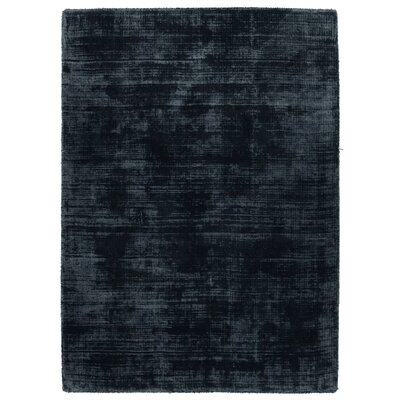 Zayne Hand-Woven Ink Blue Area Rug Rug Size: 5 x 8