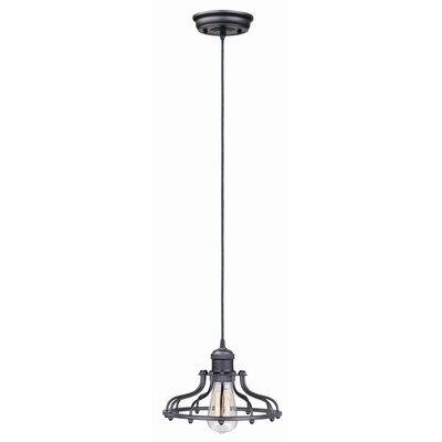 Archie 1-Light Metal Pendant Finish: Bronze, Bulb: Included