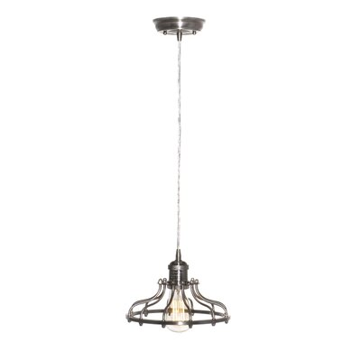 Archie 1-Light Metal Pendant Finish: Satin Nickel, Bulb: Included