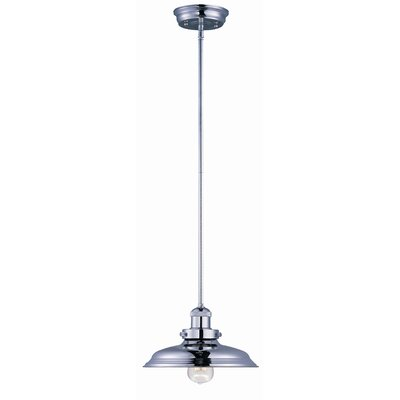 Archie Contemporary 1-Light Pendant Finish: Polished Nickel, Bulb: Included