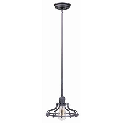 Archie Industrial 1-Light Pendant Finish: Bronze, Bulb: Included