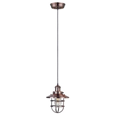 Archie Contemporary 1-Light Metal Pendant Bulb: Included, Finish: Polished Nickel