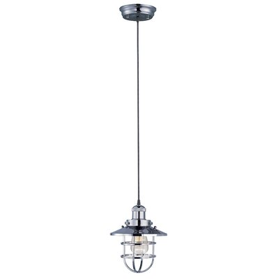 Archie Contemporary 1-Light Metal Pendant Bulb: Not Included, Finish: Polished Nickel