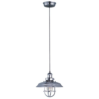 Archie Industrial 1-Light Metal Pendant Finish: Polished Nickel, Bulb: Not Included