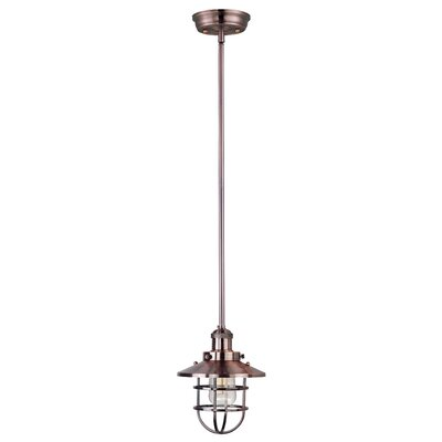 Archie Adjustable 1-Light Pendant Finish: Antique Copper, Bulb: Included