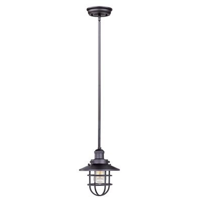 Archie Adjustable 1-Light Pendant Bulb: Not Included, Finish: Bronze