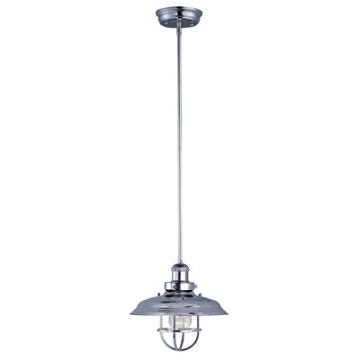 Archie Adjustable 1-Light Metal Pendant Bulb: Included, Finish: Polished Nickel