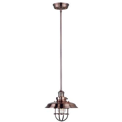 Aristocrat 1-Light Pendant Bulb: Included, Finish: Polished Nickel