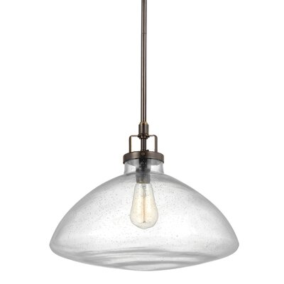 Panorama Point 100W 1-Light Schoolhouse Pendant Finish: Heirloom Bronze