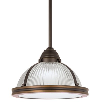 Denton Prismatic 1-Light Inverted Pendant Finish: Autumn Bronze