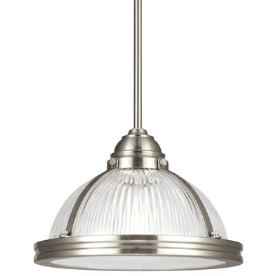 Mariel Prismatic 1-Light Inverted Pendant Finish: Brushed Nickel