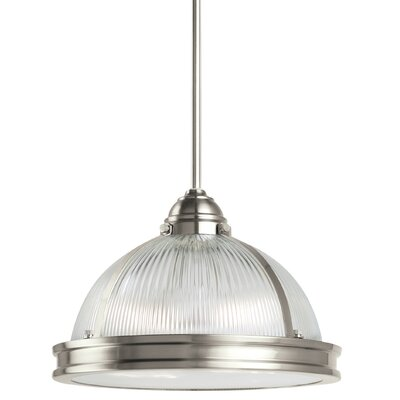Denton Prismatic 2-Light Inverted Pendant Finish: Brushed Nickel