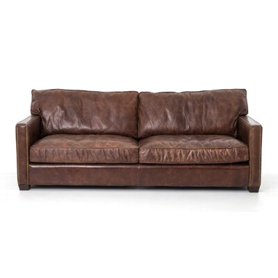 Polson Leather Sofa Upholstery: Cigar