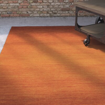 Somers Orange Area Rug Rug Size: 2 x 3