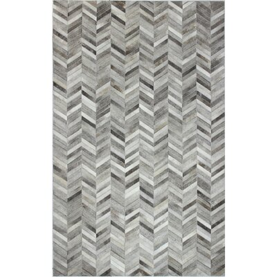 Wright Cow Hide Grey Area Rug Rug Size: 9 x 12