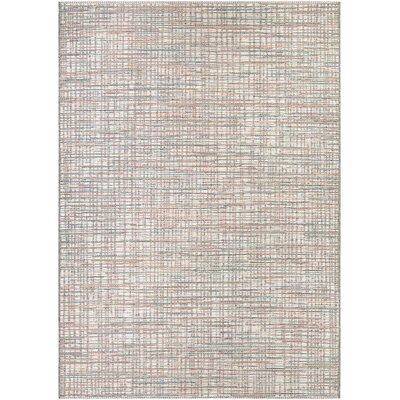 Napa Ivory/Coral Indoor/Outdoor Area Rug Rug Size: 53 x 76