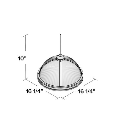 Denton 3-Light Bowl Pendant Finish: Brushed Nickel, Bulb Type: 13 W Self Ballasted PLS13 GU24