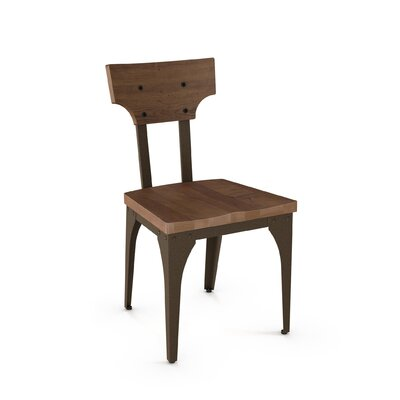 Mariana Solid Wood Dining Chair Frame Finish: Medium Brown, Seat Finish: Brown